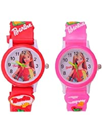 PRIMESHOP NEW GENERATION ANALOG BARBIE PINK AND RED WATCH FOR KIDS (BOYS AND GIRLS) WITH THE BEST DEAL AND FAST SELLING Watch - For Girls