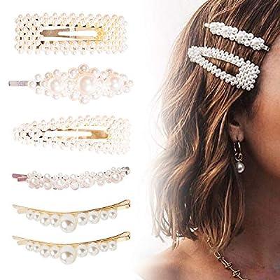 6 Stücke Perlen Haarspangen
