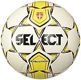 Pallone Select, Evolution Pro White, Taglia 4, Colore: Bianco/Giallo