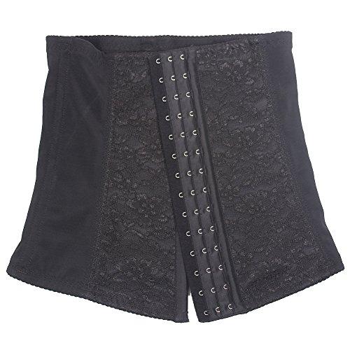 Feelingirl–Corsetto in acciaio Disossati Underbust waist training top Lace lingerie Black