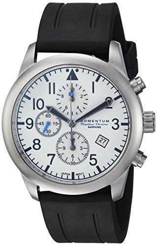 Momentum Men's Analog Japanese-Quartz Watch with Rubber Strap 1M-SN34LS1B