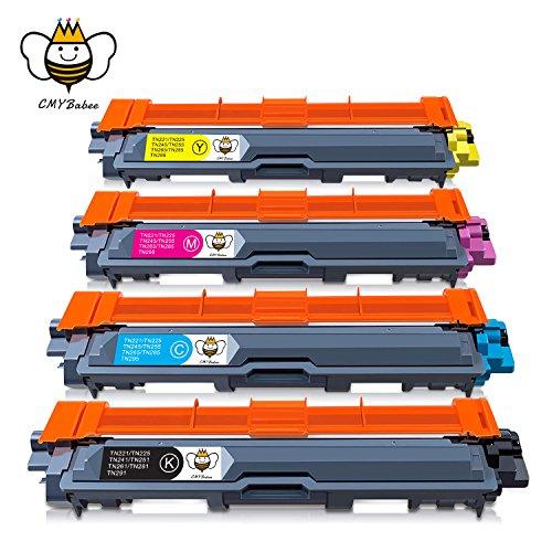 CMYBabee TN241 TN245 Cartucce toner,sostituzione per Brother TN-241 TN-245 compatibili con Brother DCP-9020CDW DCP-9015CDW HL-3140CW HL-3150CDW HL-3170CDW MFC-9140CDN MFC-9330CDW MFC9340CDW(4-Pacco)