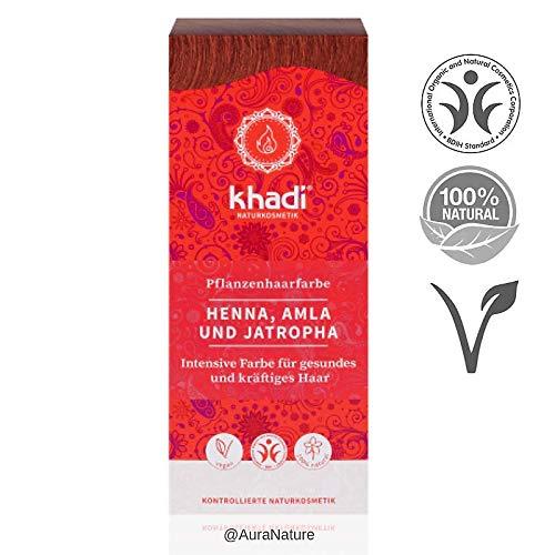 Khadi Henna Natural con Amla y Jatropha 500Gr - 1 unidad