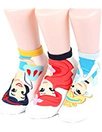 Disney Princess Sneakers Women's Socks 7 pairs Made in Korea