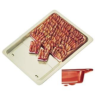 ALPFA Telescopic Baking Sheet in red/Creme, Ceramic Crème, 33 x 40 x 3 cm