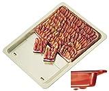 Alpfa Ausziehbares Herdbackblech in rot/Creme, Keramik, Red/Crème, 33 x 40 x 3 cm