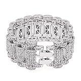 Section De Réservation Grand Bracelet Hip Hop Style Bracelet Homme Ensemble Diamant...