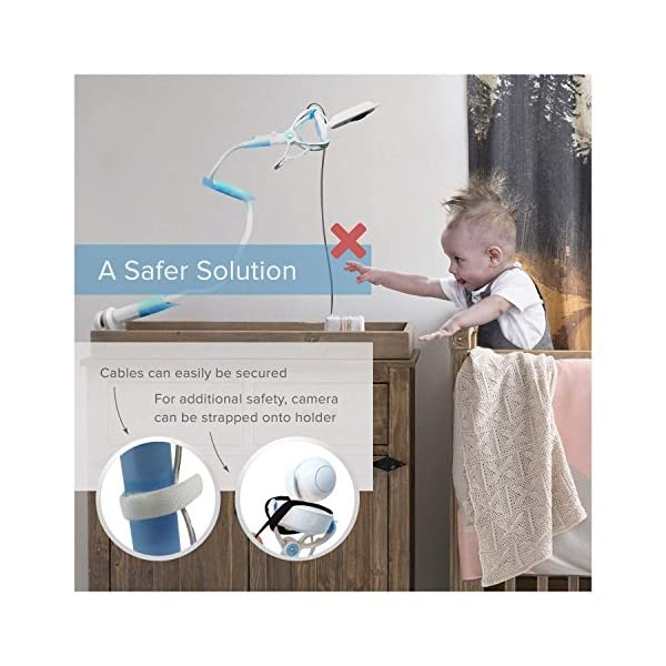 ÿolle | Universal Baby Monitor Holder with Straps | Flexible Baby Camera Mount Shelf | No Drilling | A Safer Monitor Stand for Your Baby 2
