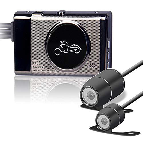 """Motorrad Dashcam, HD Motorrad Kamera mit 1080P + 720P vorderen und hinteren Dash Cams, Aufnahme Kamera mit 3.0\"""" LCD Display"""