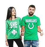 Silk Road Tees Männer St Patrick Tag Paar Matching Shirts Französisch Terry Irish Grün Paar Shirts Shenanigans Shirts Men XXXL - Women XL Grün