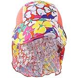 Magideal Kids Children UPF 50+ UV Protection Beach Sun Hat Neck Ear Cover Flap Cap 03