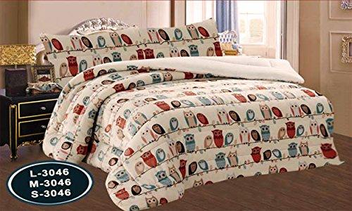 ForenTex - Edredón nórdico, (S-3046), Buho, cama de 90 y 105 cm,...