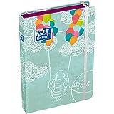 Oxford Lollie agenda escolar (años 2017–20181día por página 352páginas 12x 18cm), diseño de nubes