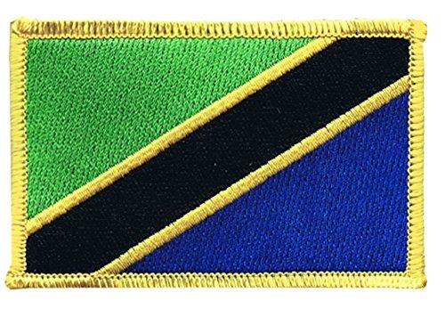 Flaggen Aufnäher Tansania Fahne Patch + gratis Aufkleber, - Patch Tansania