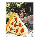 Floatie Kings - Flotteur Piscine Pizza Prémium 6 Pi (183 Cm) - Grande Taille (Correspond À 2 Adultes - Supports Pratiques - Haute Qualité)