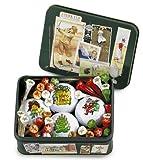 Weihnachtsgeschenk für Golfer: Blechbox mit Ryder-Cup Motiven, gefüllt mit 4 Weihnachtsgolfbällen und Weihnachtstees