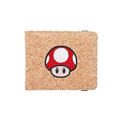 Super Mario - Portefeuille liège super champignon Nintendo - 11x9x1cm - Brun