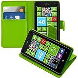 kwmobile Wallet Case Hülle für Nokia Lumia 625 - Cover Flip Tasche mit Kartenfach und Ständerfunktion in Grün