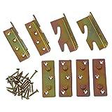 TOOGOO(R) Moebel Holz Bett Schiene Klammer Fassung Druckknopf Steckverbinder 4 stueck