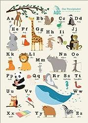 Poster 50 x 70 cm: Das Tieralphabet von Sandy Lohß - hochwertiger Kunstdruck, neues Kunstposter