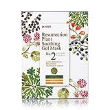 Petitfée - Resurrection Plant Soothing Gel Mask - 10 x Extra feuchte Gesichtsmasken / Serum Maske mit Himberren, Heidelbeeren, Aminosäure und Wüstenrose gegen Trockenheitsfältchen und trockene Haut