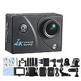 Mengshen 4K Ultra HD sportiva camma d'azione impermeabile Wifi cam con schermo da 2 pollici 170 gradi grandangolo obiettivo Q5HOu nero