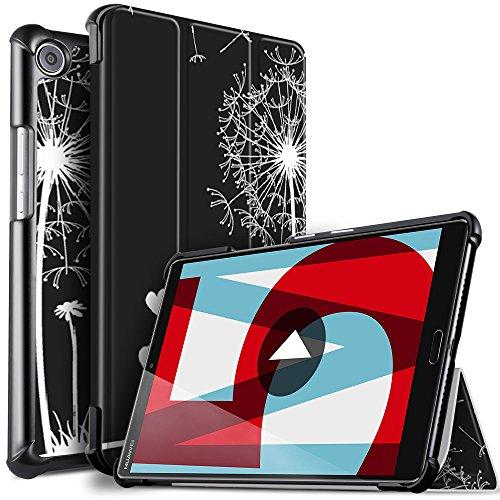 Huawei MediaPad M5 8.4 Hülle, ELTD Ultra Leightweight Flip Hülle mit Ständer Funktion und Eingebautem Magnet Hochwertiges PU Leder Schutzhülle für Huawei MediaPad M5 8.4 Zoll 2018 Modell [CH-09]
