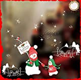 Drasawee Grand Festival Christmas Glass Stickers Decorations Removable Window Decals 10#