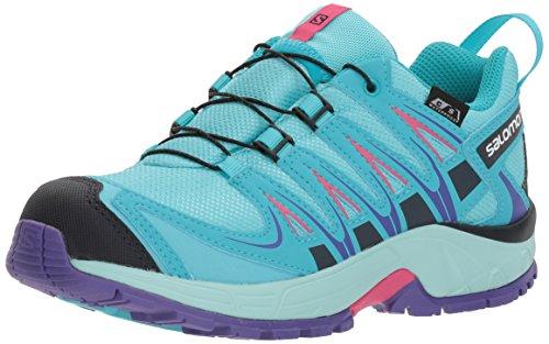 Salomon Enfant XA Pro 3D CSWP Chaussures de Course à Pied et Trail Running - Bleu Ciel/Turquoise (Blue Curacao/Eggshell Blue/Purple O), Pointure: 32