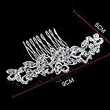 Bingqing marca pettine -- vintage con cristalli e perle sintetiche lato  pettini da sposa copricapo 41dd99a8db83