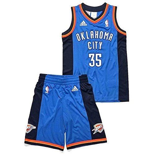 Adidas Kids Oklahoma City Thunder Jersey Set Shorts + Trikot Durant NBA (152)