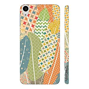 HTC Desire 728 Prints on Feathers 2 designer mobile hard shell case by Enthopia