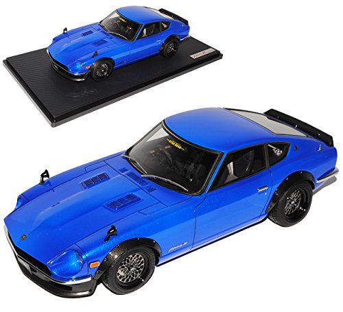 Preisvergleich Produktbild Nissan Fairlady Z S30 Coupe Blau Datsun 240Z IG 0649 1/18 Ignition Model Modell Auto