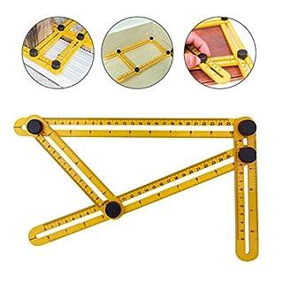 Asking Kompaktes Winkelgerät, robust, verschiedene Winkelmessungen und multifunktionale Formen sind möglich, ein Werkzeug für Handwerker