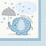 CO Umbrellaphants blau Servietten 16Stück