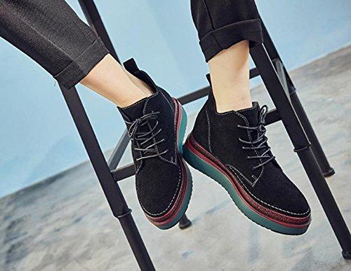 Martin stivali nuovi stivali di pelle di spessore all'interno delle stivali alti Black