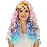 TecTake dressforfun Frauenperücke Locken Ombré Pastell | Traumhafter Farbverlauf | Wundervolle, Lange Lockenhaare