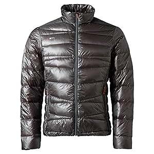 Yeti Strato Ultralight Down Jacket Men Dark Gull Grey/Manarin Red Größe S 2018 Funktionsjacke