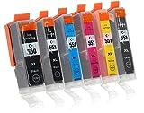 6 Druckerpatronen mit Chip und Füllstandsanzeige kompatibel zu Canon PGI-550 / CLI-551 (1x Schwarz breit, 1x Schwarz schmal, 1x Cyan, 1x Magenta, 1x Gelb, 1x Grau) Passend für Canon Pixma IP-8700 IP-8750 MG-6300 MG-6350 MG-7100 MG-7150 MG-7500 MG-7550