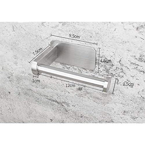 Toilettenpapierhalter/Nickel Edelstahl Seidenpapierrollenhalter Wandhalterung für Badezimmer Edelstahl Bad Toilette Toilettenpapierhalter-B -