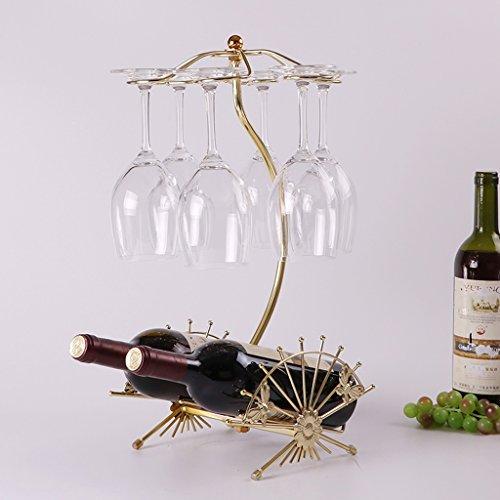 Liling Kreative Weinregal Europäischen Wein Becherhalter Weinregal Mode Wein Dekoration Becher Hängende Glas Regal (Color : Gold)