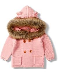 mimixiong Bebé niña de Abrigo Capa Chaqueta otoño Invierno Encapuchados Ropa Caliente