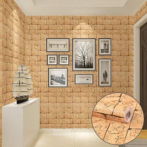 Backstein Mosaik Tapete Dekoration dicke selbstklebende Tapete Wandsticker Möbelsticker