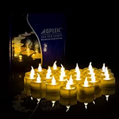 Idea Regalo - AGPtEK Candele LED Lumini LED 100 pz, Nessun Lampo Candele senza Fiamma LED Luce Gialla Calda,per Decorazione di Casa Camera Natale Partito Halloween Matrimoni Compleanno