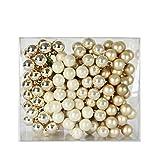 Spiegelbeeren Glaskugeln - Creme Rahm Mix - verschiedene Größen 25mm
