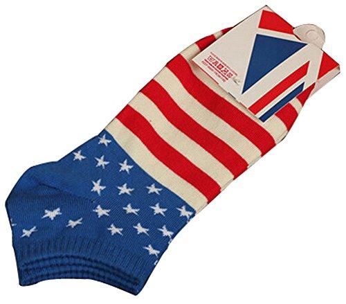 Lot de 2 Flag chaussettes en coton chaussettes pour hommes chaussettes Chaussett