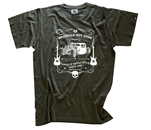 Famous Songs - Deguello Hot Rods - Doing it Texas style T-Shirt Olive XL