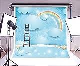Best Cielo - Escaleras azules - YongFoto 2x2m Vinilo Fondos Fotograficos Paisaje surrealista Cuento Review