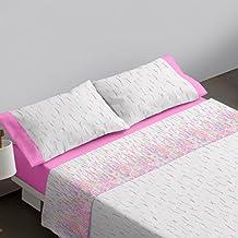 Burrito Blanco Juego de sábanas 453 Rosa de cama de 150x190/200 cm
