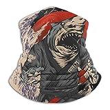 Zcfhike Samurai Shark The Ground is My Ocean Unisex Fleece Neck Warmer...